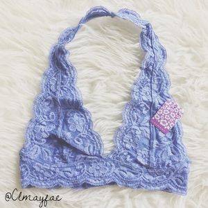 Other - New Wild Blue Lace Halter Bralette